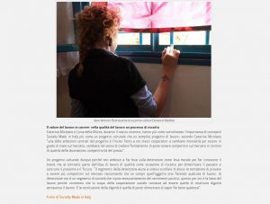 Io faccio così #116 – Socially Made in Italy: moda etica e saper fare per il riscatto delle donne detenute _ ITALIA CHE CAMBIA