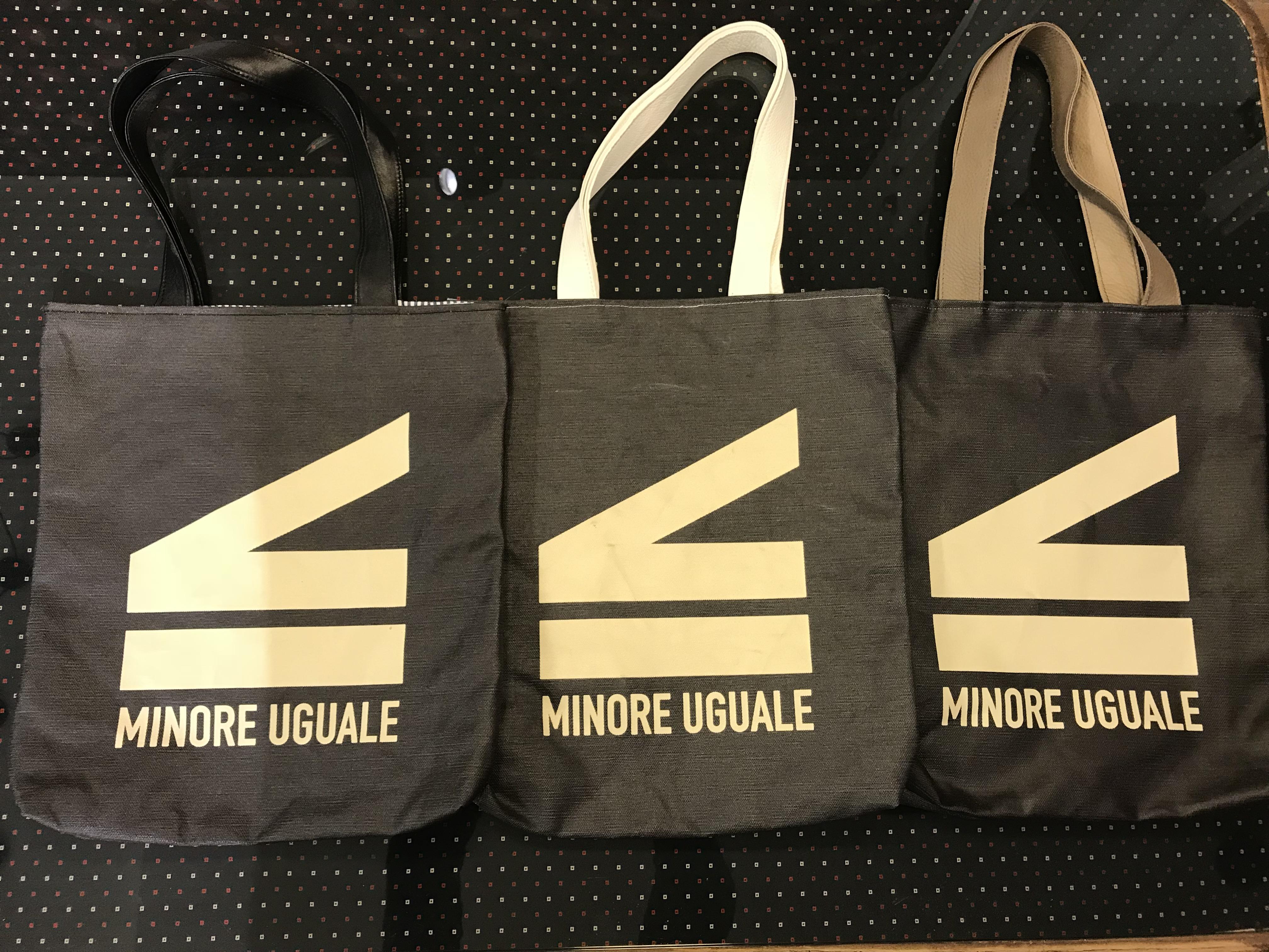 Le borse MinoreUGUALE: l'uguaglianza è questione di logica